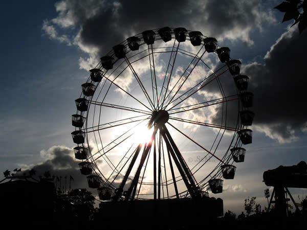 Silhouettes in the Fun Fair