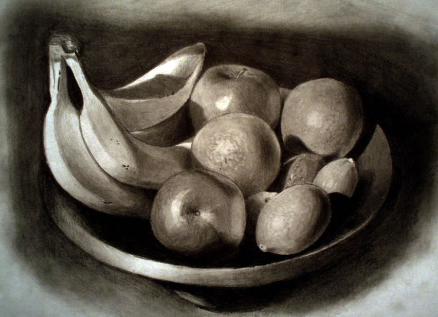 Fruits in Bowl, Still Life