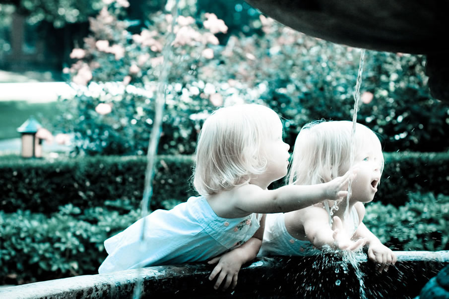 Twins at Fountain