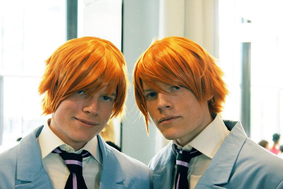 Redhead twins hugging #3