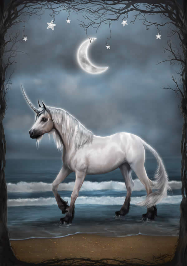 Unicorn in the Evening