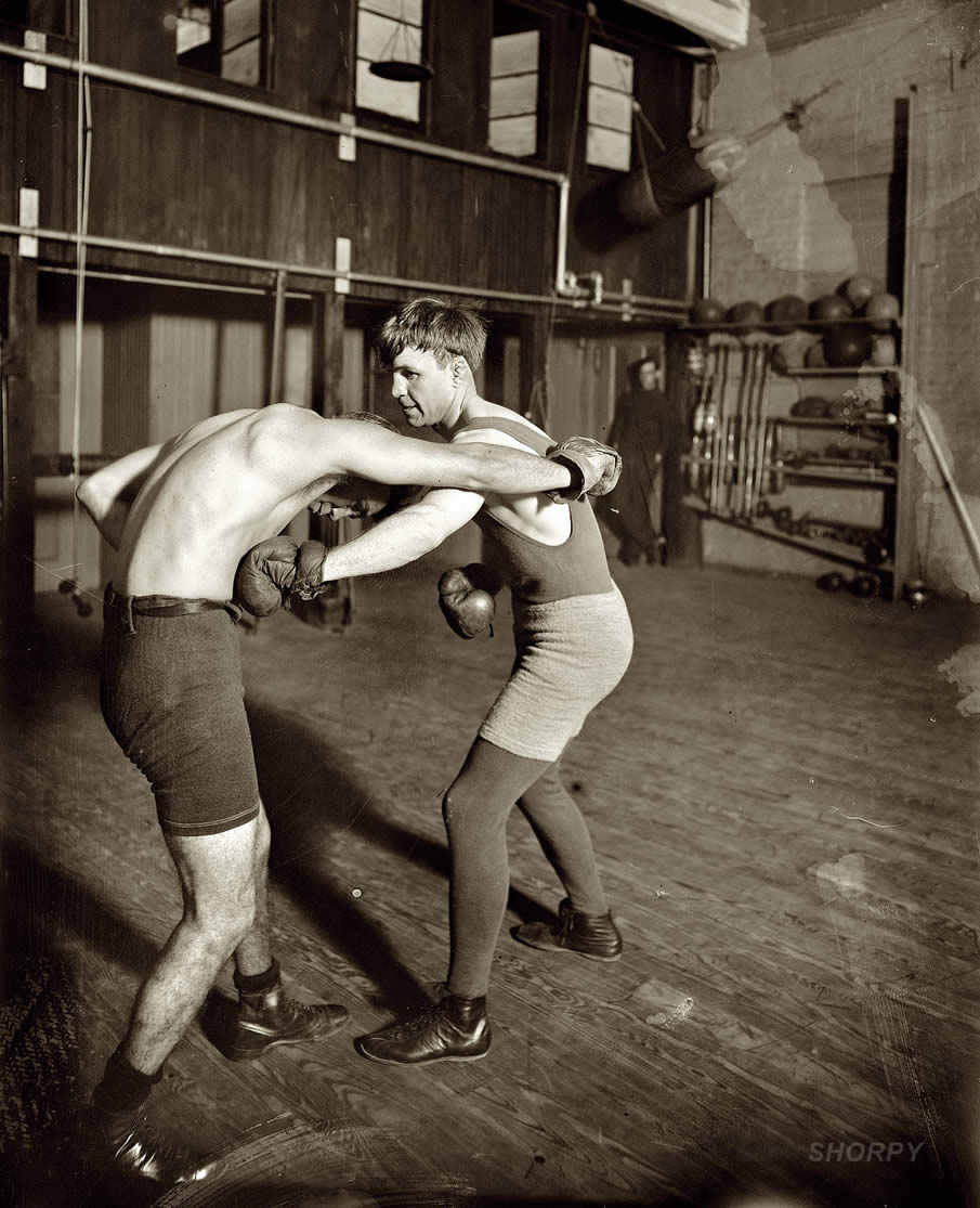 "Lightweight boxing champ ""Bat"" Nelson in 1911."