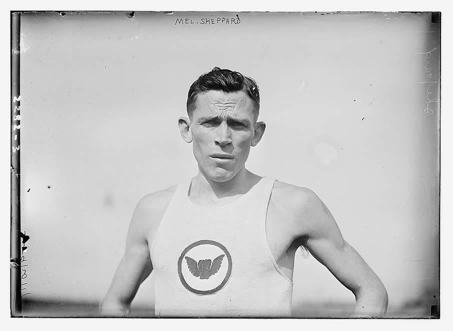 Mel Sheppard. 1910-1915.