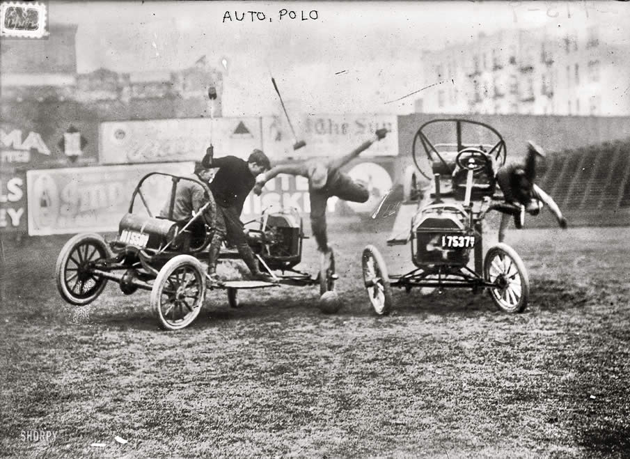"December 1912. ""Auto polo,"" somewhere in New York."