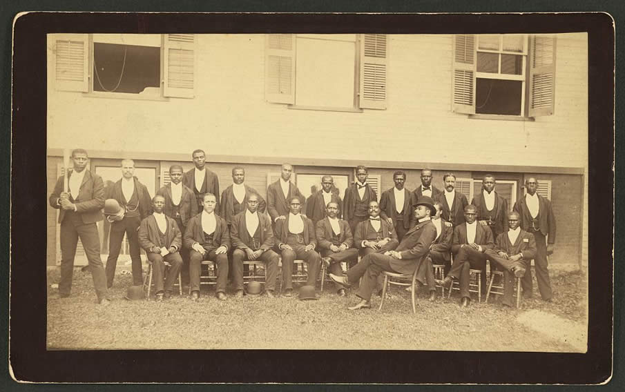 African American baseball team, Danbury, Connecticut. 1880.