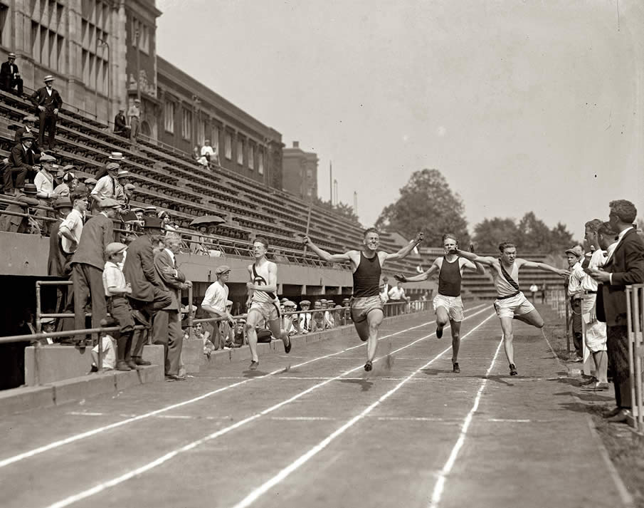 "Washington, D.C. May 31, 1924. ""High school track."""