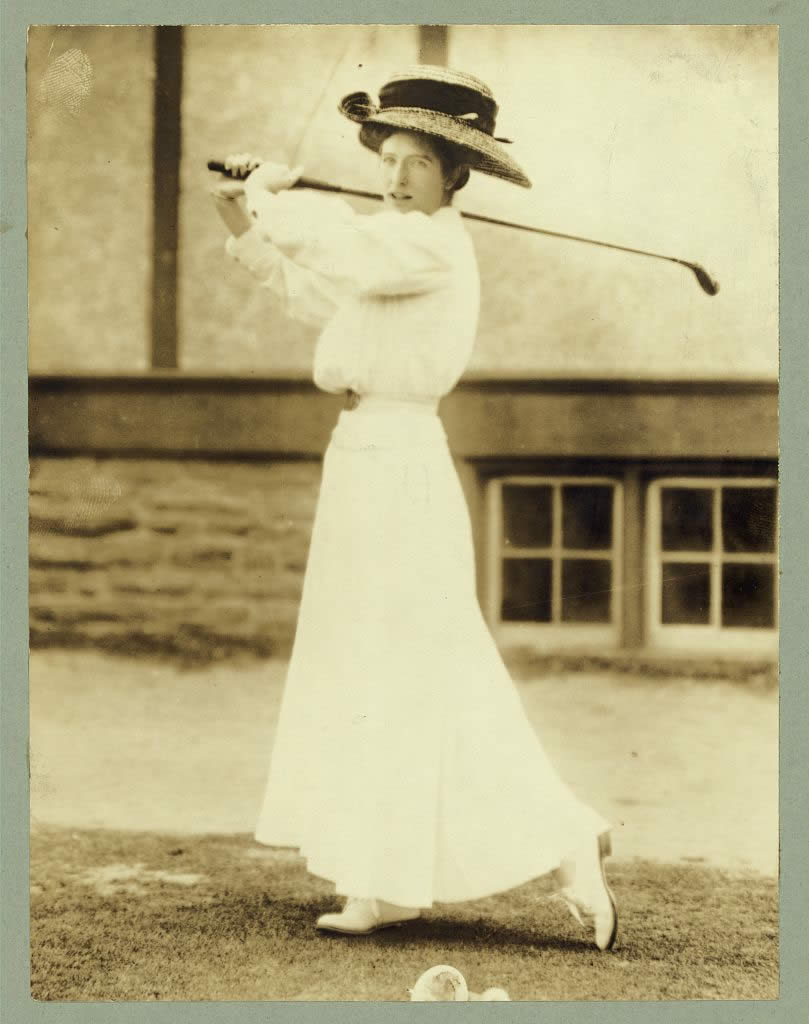 Miss Katharine Harley, former champion of the U.S. won at Chevy Chase, 1908.