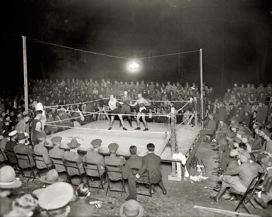 "Circa 1920s, ""Boxing at Walter Reed Hospital."""