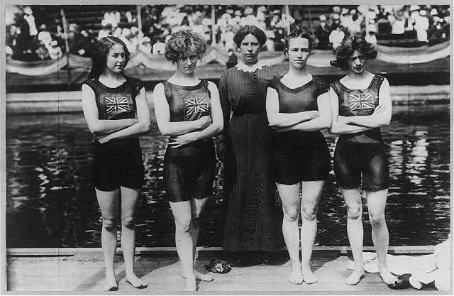 Champion Australian girl swimming team. 1919 April 8.