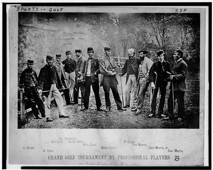 Grand golf tournament by professional players--On Leith links 17th May 1867.