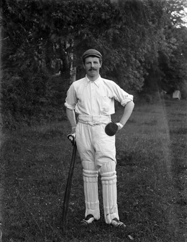 Ned Murphy, a member of or visiting player at Christendom Cricket Club, Co. Waterford. Date: 28 July 1902