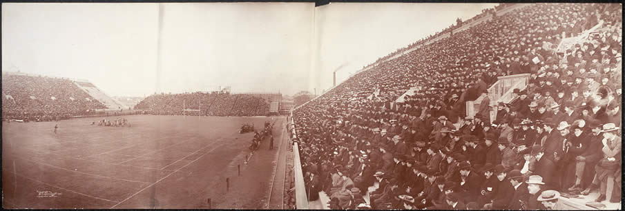Panoramic photo of Harvard - Dartmouth football game, Saturday, Nov. 14th, 1903.