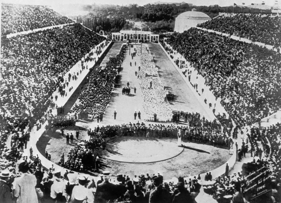First modern Olympic Games in 1894, Athens.