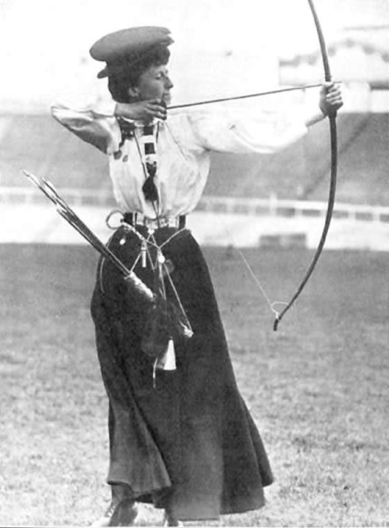 Queenie Newall. 1908 Olympics London