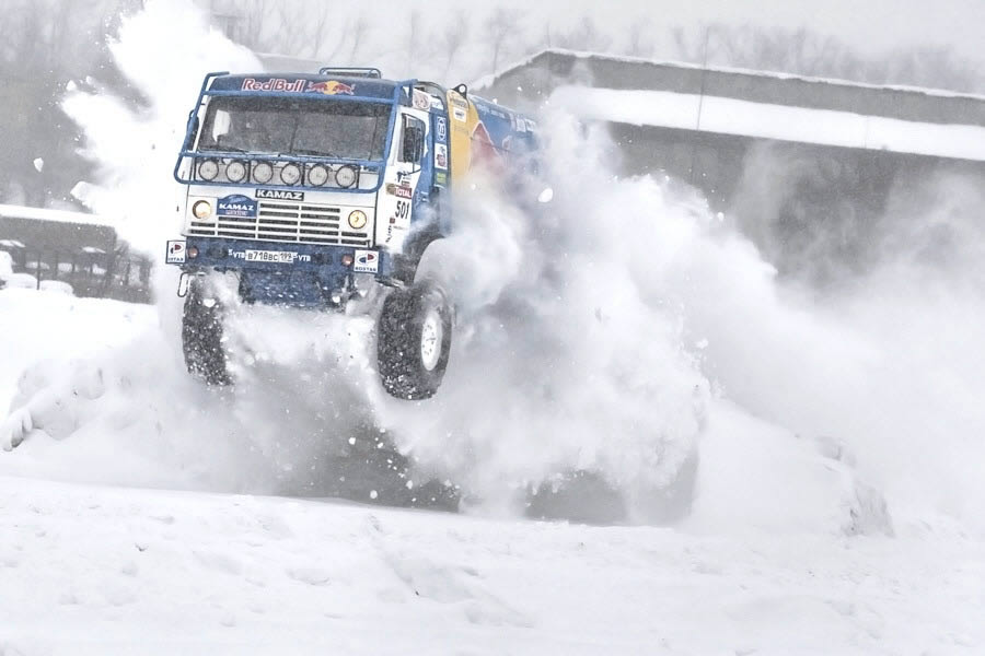 Winter KAMAZ test-drive