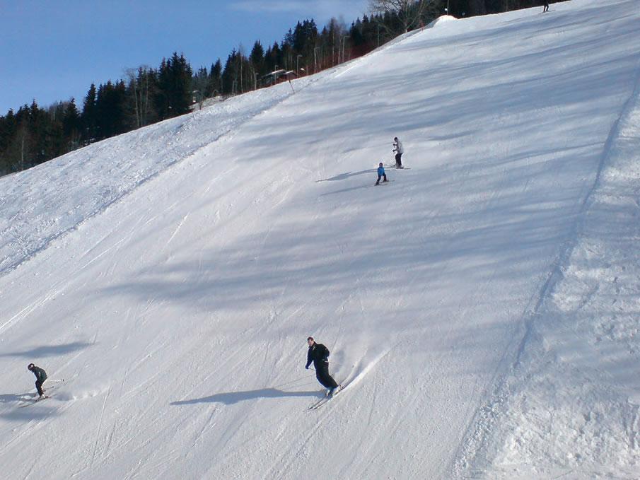 Steep Ski Slope in Hafjell