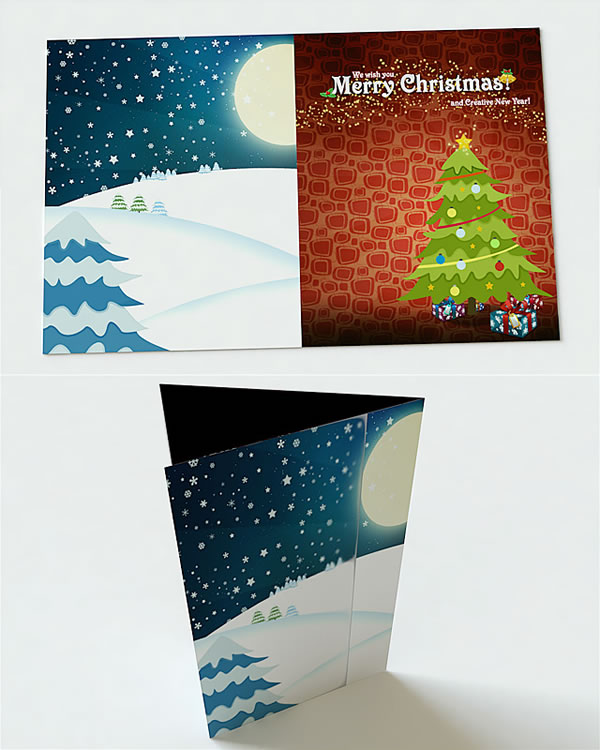 Create a Beautiful Christmas Card with Snow
