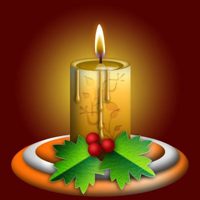 Create a Cute Christmas Candle