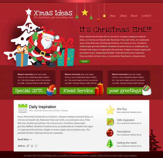 How to Draw The Header from the Christmas Greetings Template