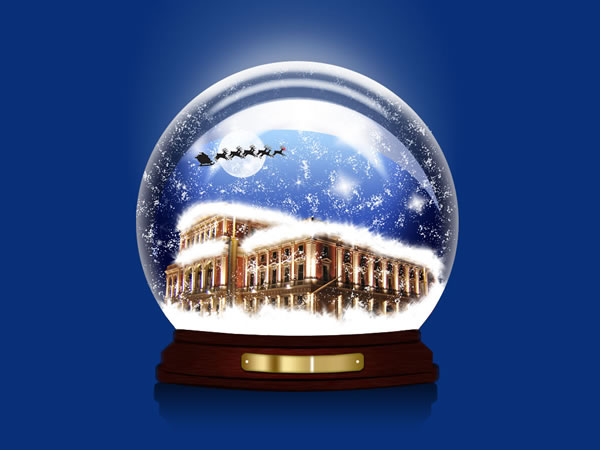 Create a Snow Globe Wallpaper for the Holidays