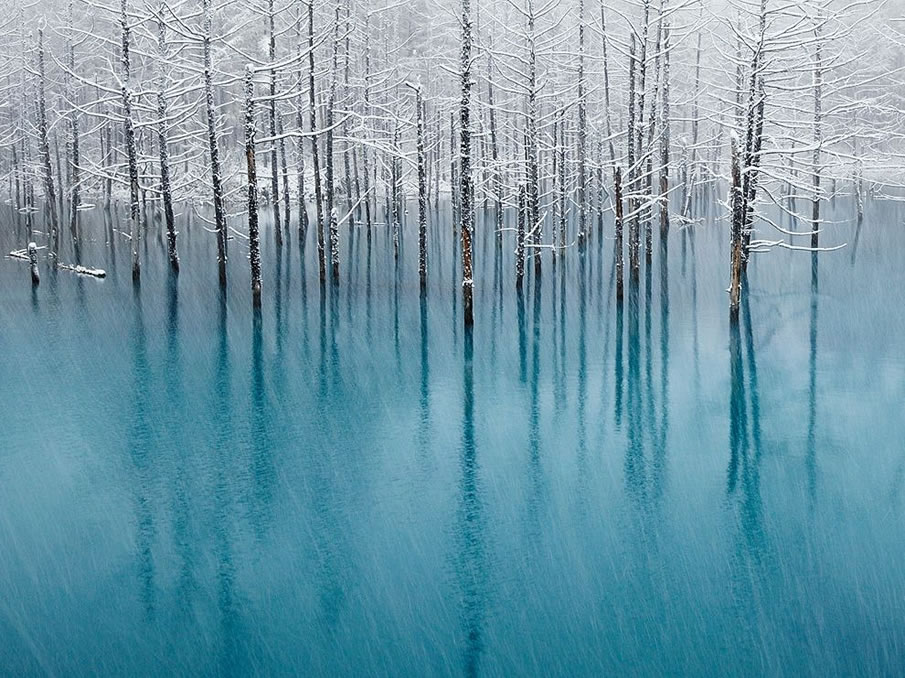 Blue Pond, Hokkaido