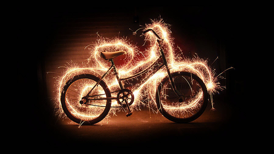 Light Painting - Bike