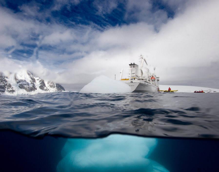 Antarctic Underwater Iceberg