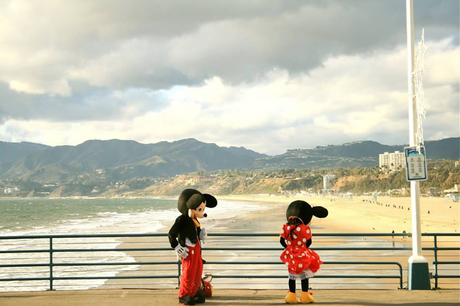 Mickey and Minnie, Santa Monica Pier, California