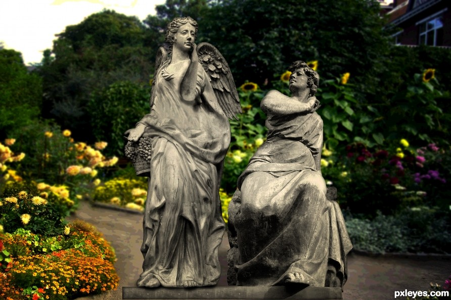 Two Statues in love
