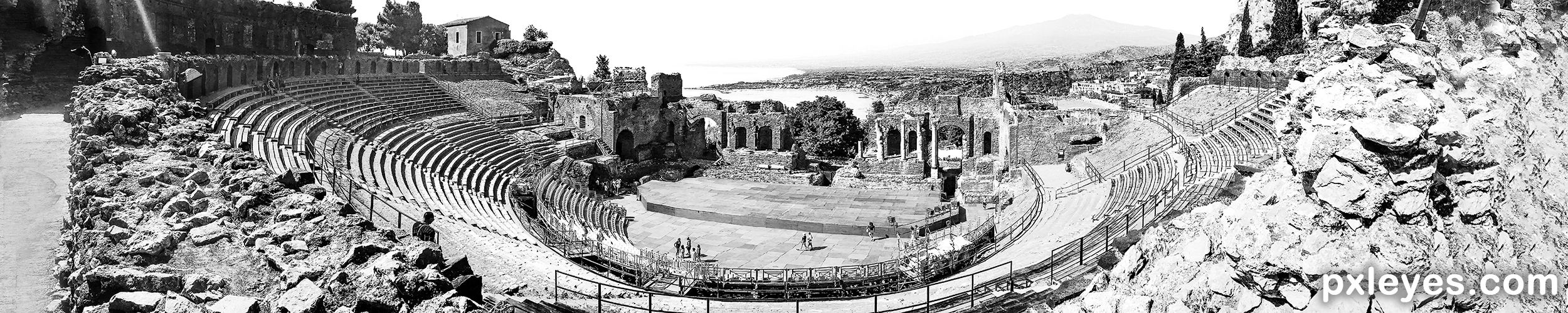 ancient greek theatre picture by heathcliffe for bw panorama