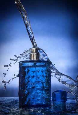 Refreshingly blue...