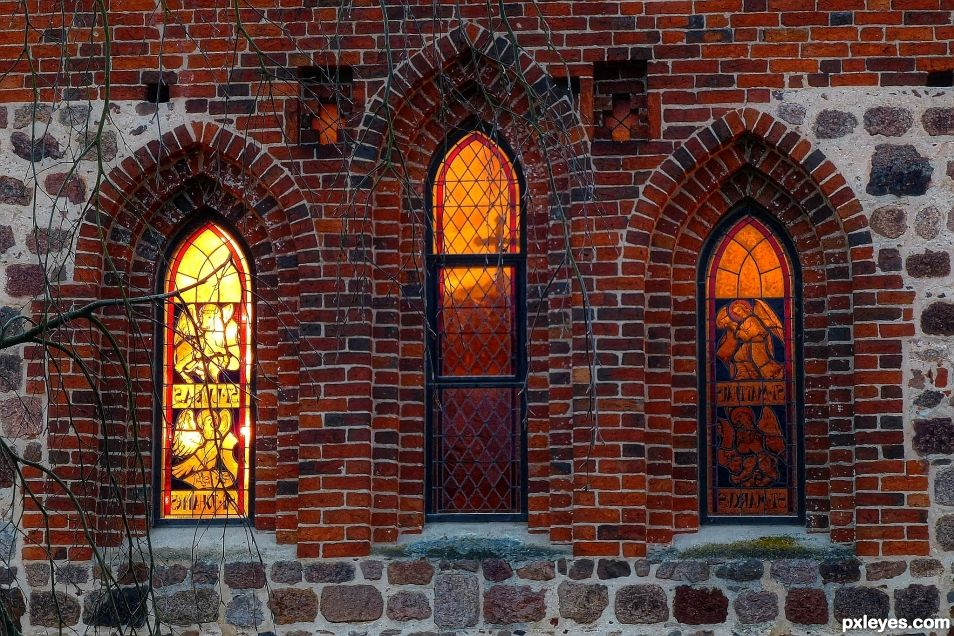 Windows of the St. Firminius Church Doetlingen, Lower Saxonia, Germany
