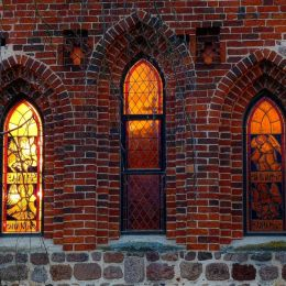 Windows of the St. Firminius Church Doetlingen, Lower Saxonia, Germany Picture