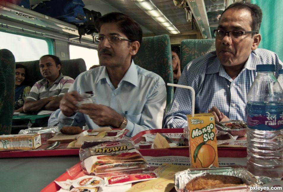 Breakfast in the train