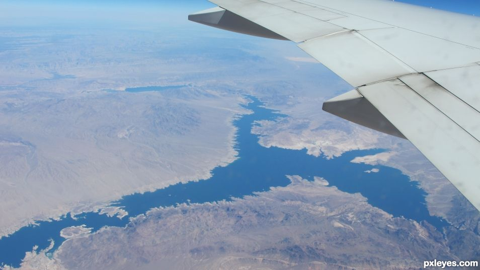 flying over the greenland