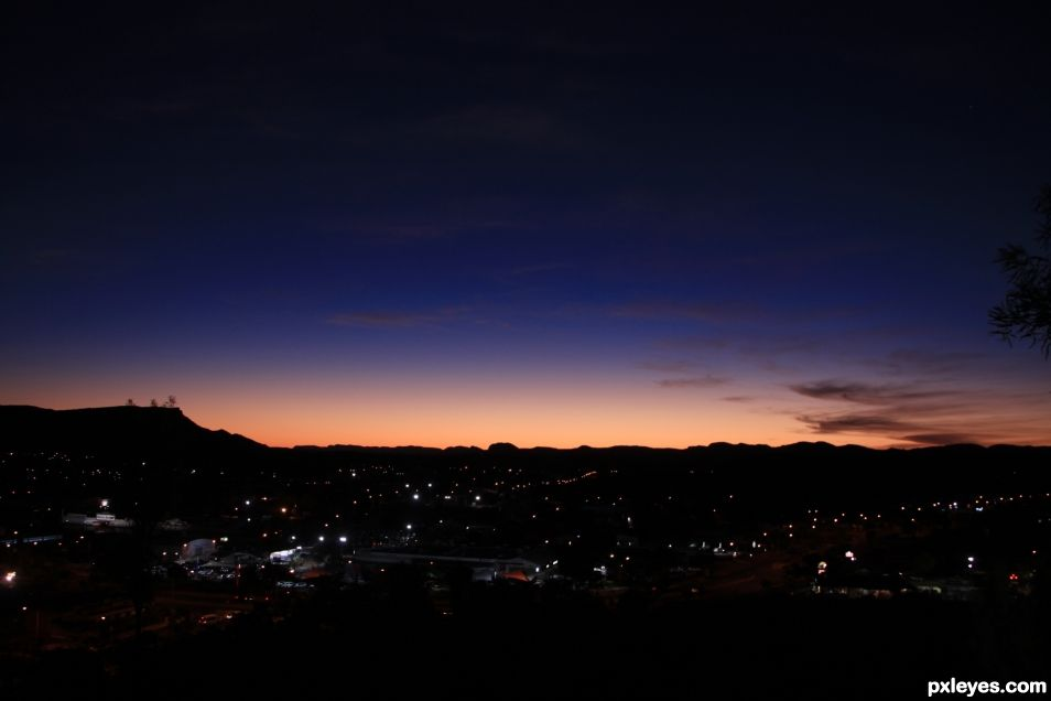 Alice Springs Skyline by Night