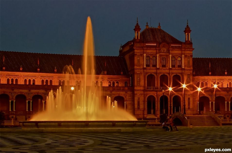 fountain in Seville Spain
