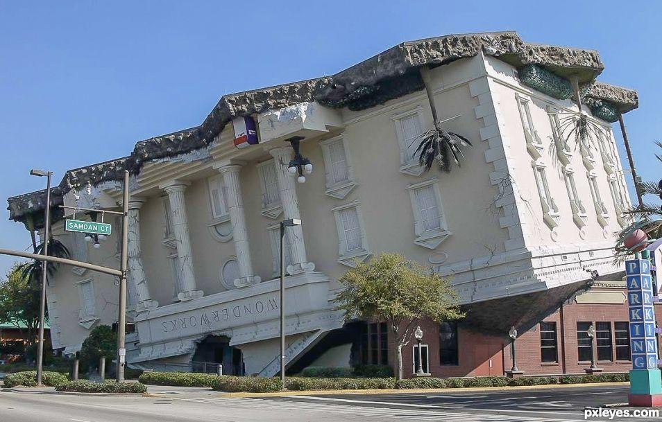 upside down building
