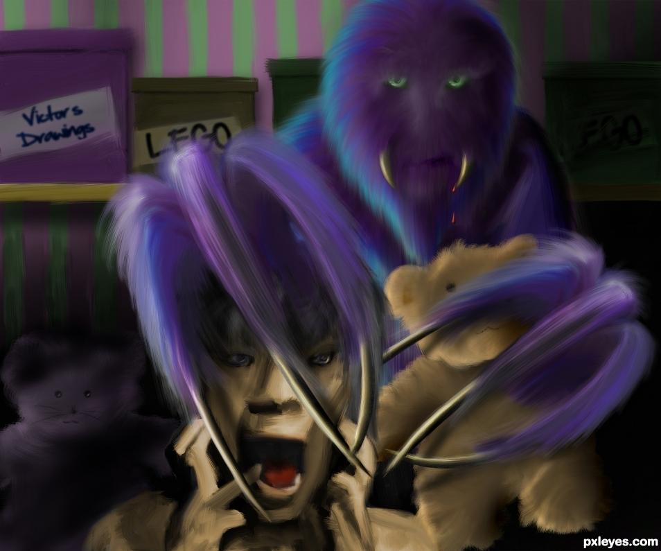 Purple Hair Monster