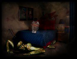 Zombie under bed