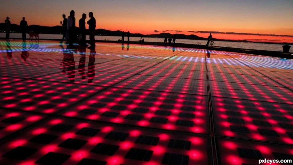 When the sun goes down, the dance floor lights up