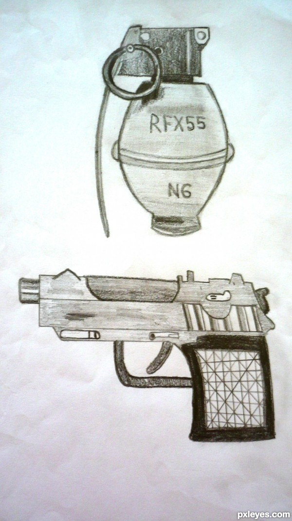 Creation of GUN AND GRENADE: Final Result