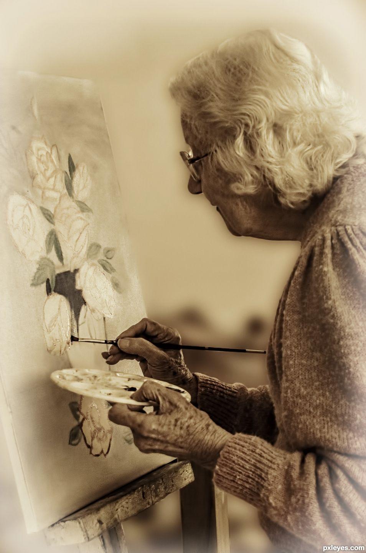 Elderly artist
