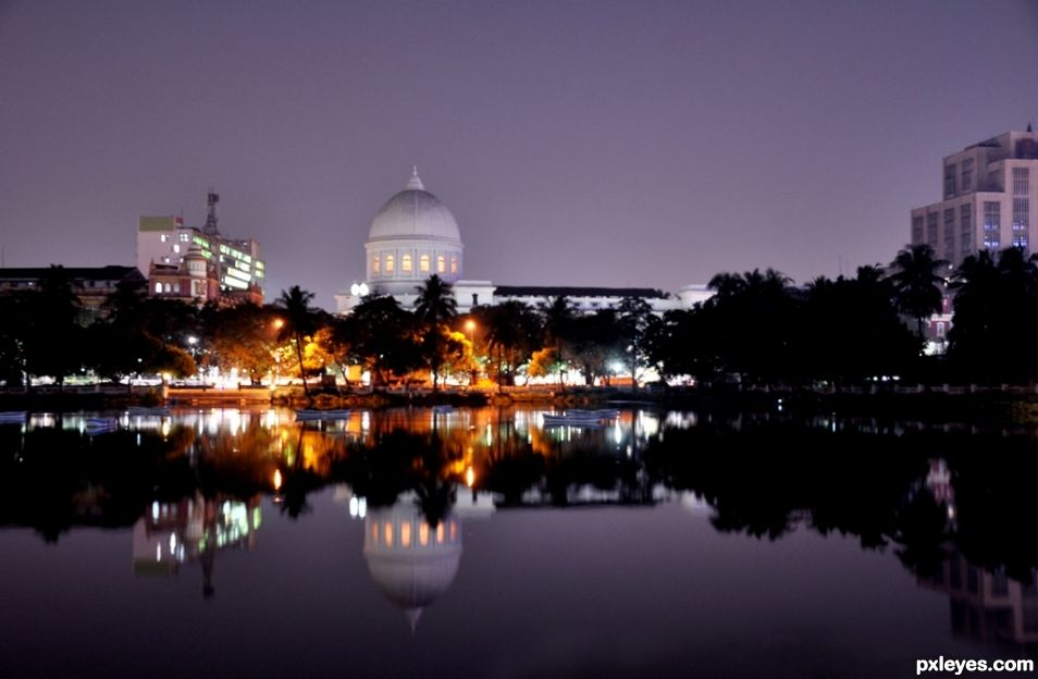 The evening in Kolkata