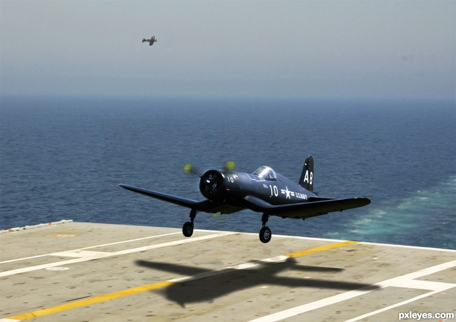 Vought F4U Corsair Across The Fantail