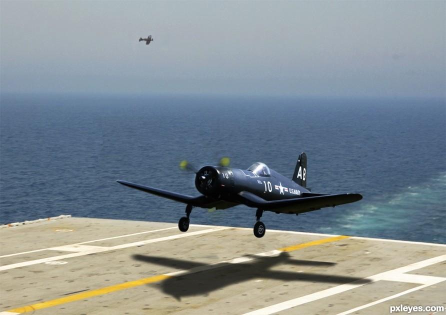 Vought F4U Corsair Across The Fantail