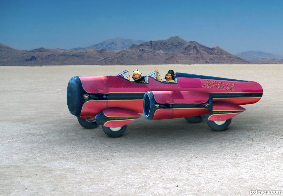Worlds Land Speed Record at the Bonneville Salt Flats