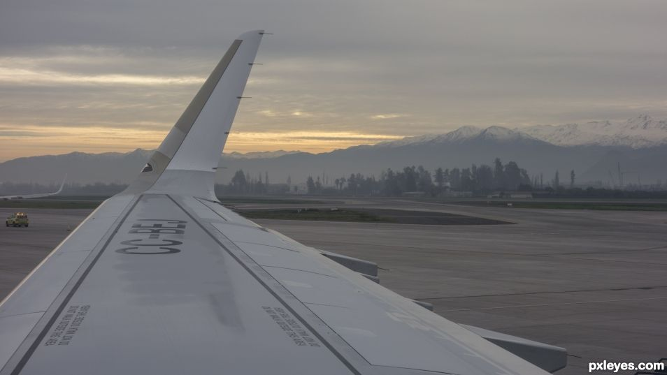 Andes from Santiago