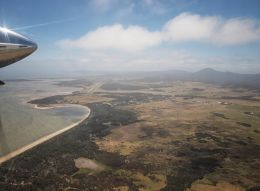 Flying into Flinders Island