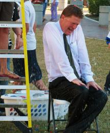The Headmaster Gets Soaked